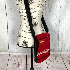 Adidas red vintage crossbody bag